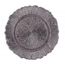 """Тарелка подстановочная """"Эмель"""" серебряного цвета"""