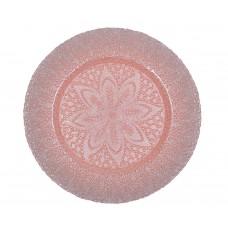 """Тарелка подстановочная """"Эмеральда"""" розового цвета"""