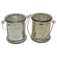 Подсвечник «Серебро/стекло»